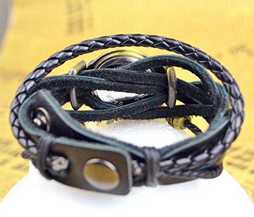 Kim Johanson Damen Armbanduhr aus Leder Schwarz - Retro Herz Uhr Neu & OVP inkl. Geschenkverpackung - 5