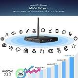 ABOX 4K Android 7.1 Smart TV BOX, 2GB RAM, 16GB ROM, 2018 Model Amlogic Quad Core A53 Processor 64 Bits, HDMI 2.0, Support Bluetooth, H.265 WIFI 2.4GHz with Responsive mini Keyboard