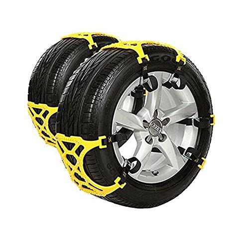 Catene-da-Neve-per-pneumatici-di-auto-SUV-catena-autovetture-pick-up-anti-skid-catena-Confezione-da-6