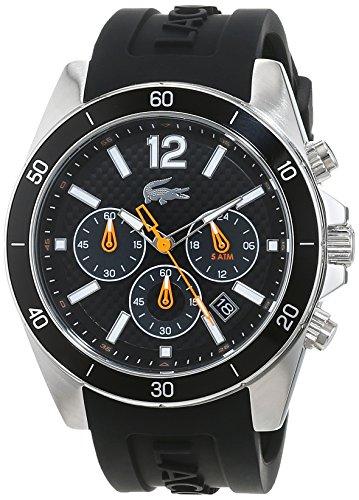 Lacoste Men's Quartz Watch with Black Dial Analogue Display Quartz Silicone 2010833