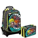 Mutant Busters Schoolpack Trolley Sac à Dos + Trousse 3zip complet de Papeterie–école 2018–2019