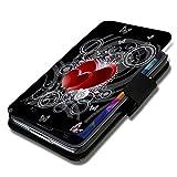 Book Style Flip Handy Tasche Case Schutz Hülle Schale Motiv Etui für HTC One M7 ( 2013 ) - A50 Design1