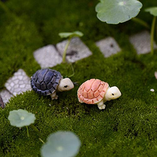 Decoration Minie - 2pcs Tortoise Model Fairy Garden Miniatures Terrarium Home Desktop Succulents Micro Landscape - Decorative Mouse Decoration Minie Decor