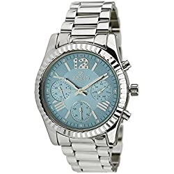 Unisex Watch Zzero zz5011c Quandrante Blue Quartz Stainless Steel Strap