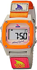 Freestyle - FS84860 - Shark Classic - Montre Femme - Quartz Digital - Cadran Argent - Bracelet Nylon Orange