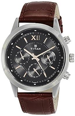 Titan Neo Analog Black Dial Men's Watch-1766SL02