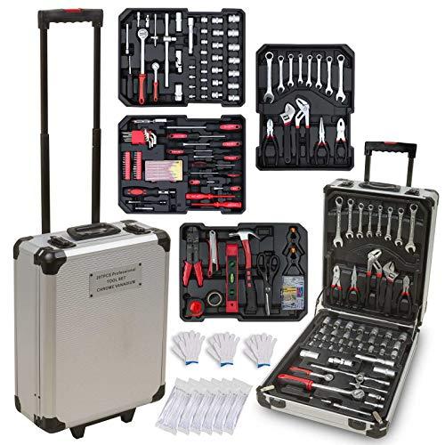hanSe® Werkzeugkoffer Maxi 810-teilig Werkzeug Trolley gefüllt Werkzeugkasten Werkzeugkiste Heimwerker Werkzeugset