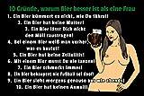 FS Spruch 10 Gründe Warum Bier Besser ist als eine Frau Blechschild Schild gewölbt Metal Sign 20 x 30 cm