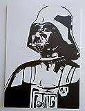 Darth Vader Darth Vader Star Wars Star Wars Bild MODERN Holz MDF handbemalt Pop Art Effect (Format 45x 60cm)