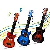 Gitarre Ukulele Musikinstrumente Spielzeug mit 4 Saiten für Kinder Lernspiezeug von Wishtime(Farben in Random)