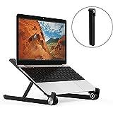 MAPUX Supporto per PC Portatile Angolazione Regolabile Portatile Pieghevole per MacBook Notebooks Laptops fino a 15.6 Pollici-Nero