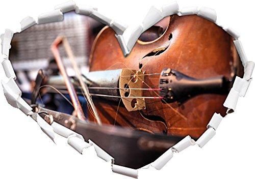 vecchio-a-forma-di-cuore-violino-ladesivo-formato-aspetto-parete-o-una-porta-3d-92x645cm-autoadesivi