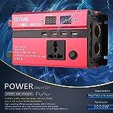 3000W inversor de Corriente Solar Profesional DC 12V al convertidor de la Onda sinusoidal del Coche de la Pantalla LED de AC 220V para los aparatos electrodomésticos fghfhfgjdfj