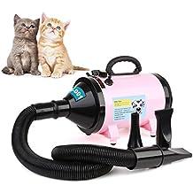 MVPOWER Secador de Pelo para Perros Gatos Mascotas Secador de Cabello con Calentador Blaster Lavado en