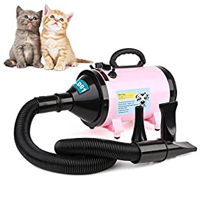 MVPOWER 2800W Dog Pet Grooming Hair Dryer Professional Hairdryer Blaster Washer Heater Pink 5