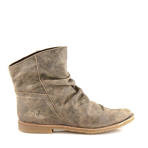 Felmini - Chaussures Femme - Tomber en amour avec Clash 8114 - Bottes Cowboy & Biker - Cuir Véritable - Marron Marron