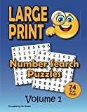 Number Search Puzzle Book for Adult: 74 Big Number Finds