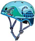 Micro Mobility Scootersaurus Mehrfarbig Scooter Helm Schutz–Schutz-Helme (Scooter, Mehrfarbig, M, 53–58cm)