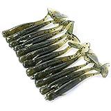 Varios colores 12Pesca señuelo de plástico suave Bass Perca Micro Shad gusano cebo de pesca de hielo