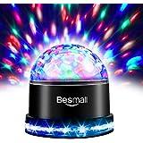 Besmall Lampe de Scène LED d'ambiance Change Les Couleurs Atmosphère Lumière Ampoule Boule Cristal Commande Sonore pour Disco/Bal/Soirée/Bar/Club/Anniversaire EU Prise 220V