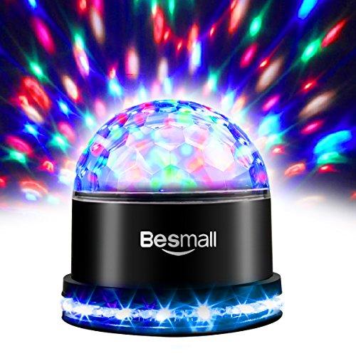 Besmall 9W Proiettore a Sfera Palla Girevole LED RGB Stroboscopica Palco Discoteca DJ Crystal Stage Magic Ball