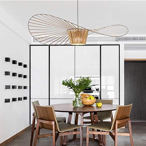 YLCJ Modern Minimalist Industrial Chandelier E27W Strohhut Schmiedeeisen Lampe Bar Cafe Retro Deckenleuchte Nordic Lights Esszimmer Home Office Pendelleuchte 80cm -