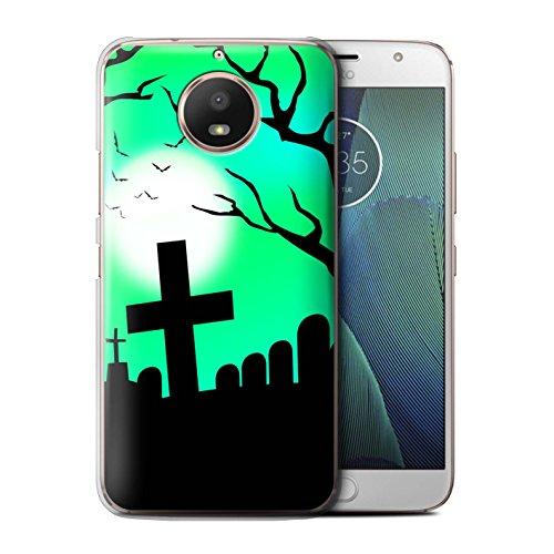 Stuff4® Hülle/Case für Motorola Moto E4 2017 / Unheimlich Friedhof Muster/Halloween Szene Kollektion