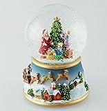 Schneekugel Weihnachtsbaum schmücken mit Melodie