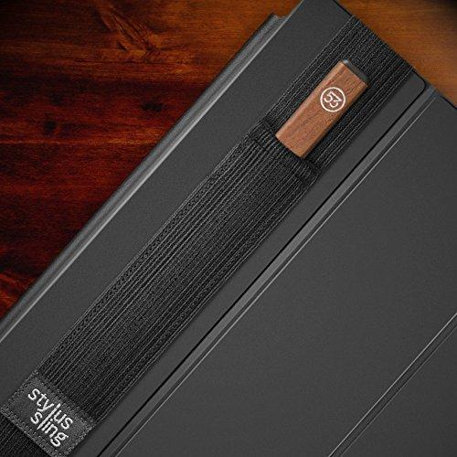 Stylus Sling Wide - Stylus Stiftehalter für große Bamboo Fineline, Pencil 53 oder Wide Stylus Pens über 10mm Durchmesser, 9.7/10.5-Zoll, schwarz