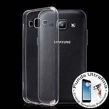 Funda Transparente Gel TPU para Samsung Galaxy J5 + Protector Cristal Templado