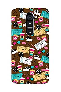 ZAPCASE PRINTED BACK COVER FOR LG G2 - Multicolor