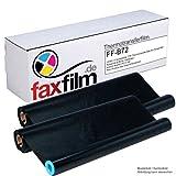 FAXFILM 2x kompatible Thermotransferrolle ersetzt Brother PC-72RF / PC-71RF , je 144 Seiten, schwarz