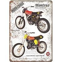 Montesa Moto Cross Cappra Póster de Pared Metal Creativo Placa Decorativa Cartel de Chapa Placas Vintage Decoración Pared Arte para Carretera Bar Café Tienda