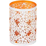 Imperial Gifts Glass Tealight Candle Holder (14 Cm X 9 Cm X 9 Cm, Orange, IGRS 76 B)