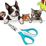OneBarleycorn - Krallenschere für kleine Hunde, Welpen, Katzen, Hasen und Meerschweinchen, Einzigartiger 45 Grad Schneidekopf in Profiqualität