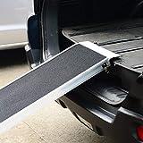 PawHut® Hunderampe Autorampe Alu Rampe Hundetreppe Haustier PKW Einstiegshilfe klappbar 183×36 cm - 7