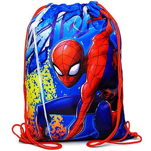 alles-meine.de GmbH Sportbeutel - Turnbeutel - Schuhbeutel - Spider-Man - wasserabweisend abwischbar - für Kinder - Kinderbeutel / Schlafsack - Schulbeutel Kindergarten - Jungen .. (Für Kinder Spiderman-schlafsack)