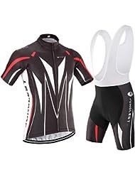 [traje[tirante blancas] tamaño:4XL] aire Respirable secado de bicicleta rápido Maillot Trajes ciclistas Mangas ciclo manga Mecha Cojín cómoda al Pantalones Jersey jerseys Ropa