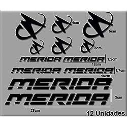 Ecoshirt 9N-YQLD-W5IT Pegatinas Merida R63 Vinilo Adesivi Decal Aufkleber Клей MTB Stickers Bike, Negro