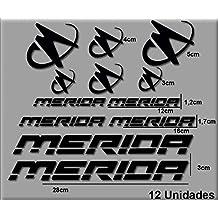 PEGATINAS MERIDA R63 VINILO ADESIVI DECAL AUFKLEBER КЛЕЙ MTB STICKERS BIKE (NEGRO)
