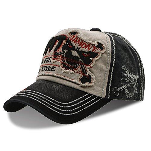 UPhitnis Unisex Baumwolle Baseball Cap Baseball Kappe | Mütze Einstellbar Bequem mit Stickerei Denim Jeans Art von Mutiple Farben