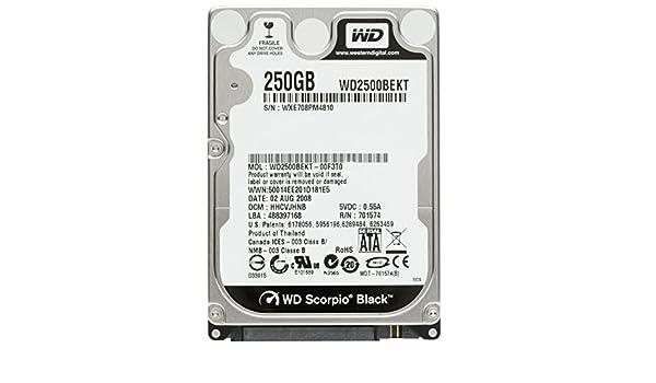 Western Digital (WD) 6,3 cm Mixed Brand Scorpion Noir Mobile pour Ordinateur Portable, PC, Mac, PS3, PS4 et 250 Go