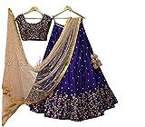 Classyfashion Women's Georgette Lehenga Choli (Multicolor,Free Size, Semi-Stitched)