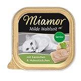 Miamor Milde Mahlzeit Senior - Kaninchen & Huhnstückchen, 16er Pack (16 x 100 g)