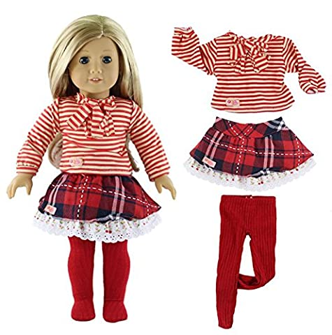 Qinsuee American Girl Doll Clothes Set for American Girl, Our Generation and Other 18 Inch Dolls