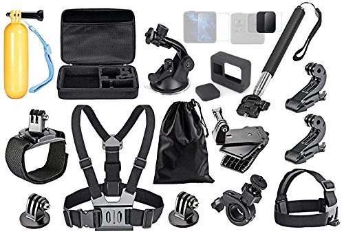 Robustrion Action Camera Accessory Kit Bundle for GoPro Hero 6 5 4 3/SJCAM/Akaso/Apeman/Xiaomi Yi Action Camera