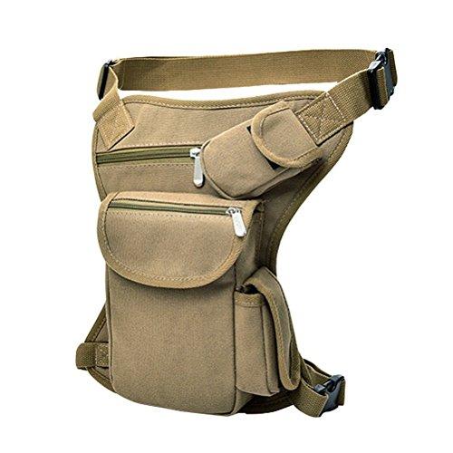 Firelong multiuso Drop Leg bag marsupio tela sport borsa marsupio da corsa da ciclismo marsupio moto equitazione Edc bag Sling Pack, Black khaki
