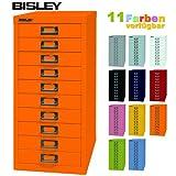 Bisley Schubladenschrank 29 aus Metall mit 10 Schubladen