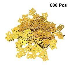 Idea Regalo - HEALLILY Coriandoli Confetti Forma 18 Coriandoli Tavola Metallico per Decorazioni 18° Compleanno