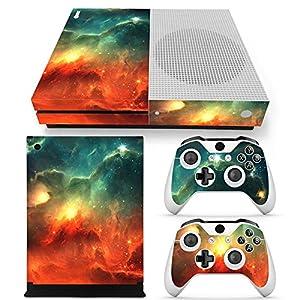 46 North Design Xbox One S Folie Skin Sticker Konsole Galaxy aus Vinyl-Folie Aufkleber Und 2 x Controller folie & Kinect…
